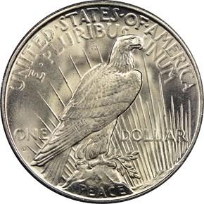 1935 S $1 MS reverse