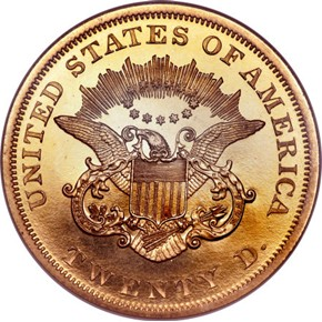 1864 $20 PF reverse