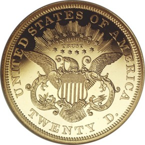 1868 $20 PF reverse