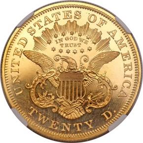 1876 $20 PF reverse