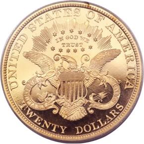 1892 $20 PF reverse
