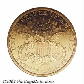 1893 $20 PF reverse