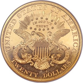 1897 $20 PF reverse