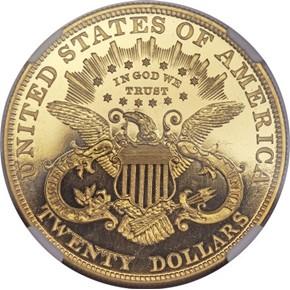 1901 $20 PF reverse