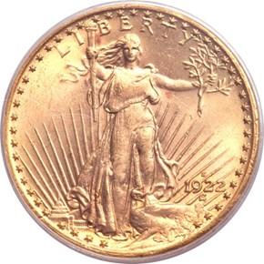 1922 S $20 MS obverse