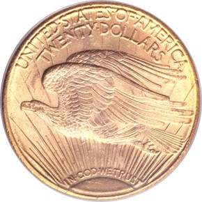 1922 S $20 MS reverse