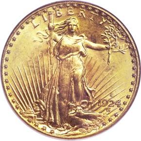 1924 S $20 MS obverse