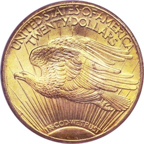 1924 S $20 MS reverse