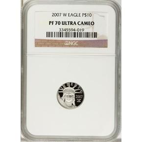2007 W EAGLE P$10 PF obverse