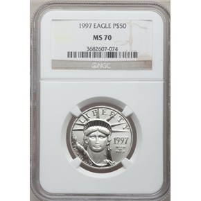 1997 EAGLE P$50 MS obverse
