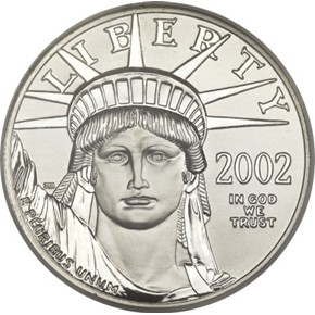 2002 EAGLE P$100 MS obverse