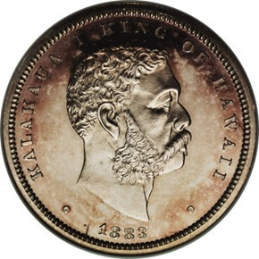 1883 HAWAII 50C PF obverse