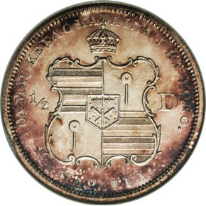 1883 HAWAII 50C PF reverse