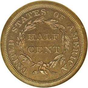 1847 ORIGINAL 1/2C PF reverse