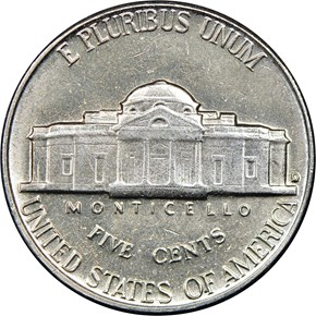 1963 D 5C MS reverse