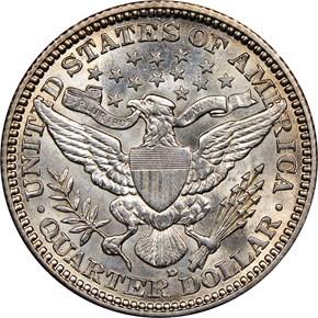 1907 D 25C MS reverse