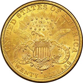 1888 S $20 MS reverse