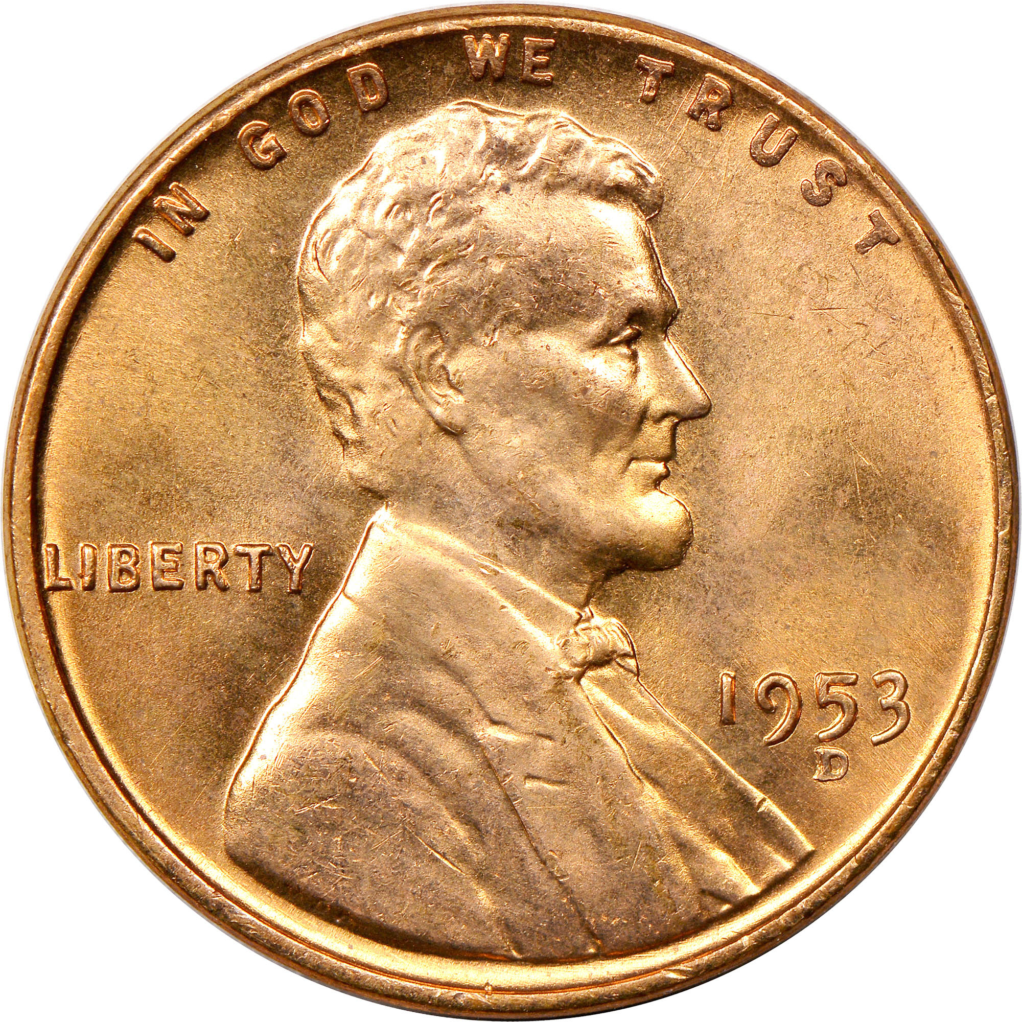 BU 1953 D LINCOLN CENT