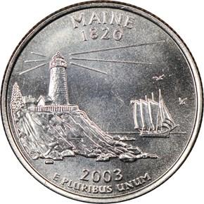 2003 D MAINE 25C MS reverse