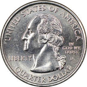 2003 D MAINE 25C MS obverse