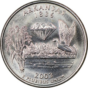 2003 P ARKANSAS 25C MS reverse