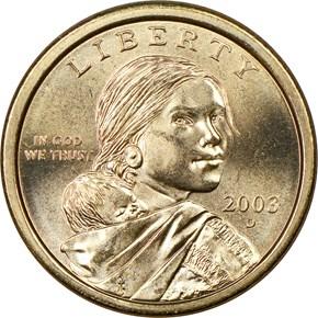2003 D $1 MS obverse