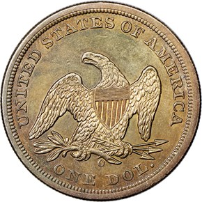 1859 O S$1 MS reverse