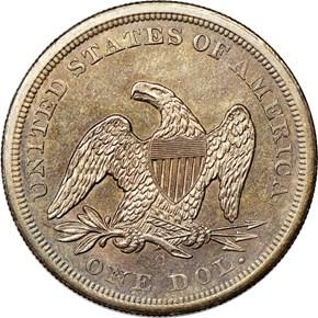 1860 O S$1 MS reverse