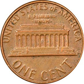 1982 D SMALL DATE BRONZE - TRANSITIONAL 1C MS reverse