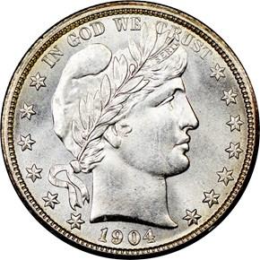 1904 50C MS obverse