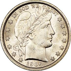 1906 50C MS obverse
