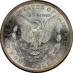 1883 S S$1 MS reverse