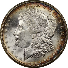1893 CC S$1 MS obverse