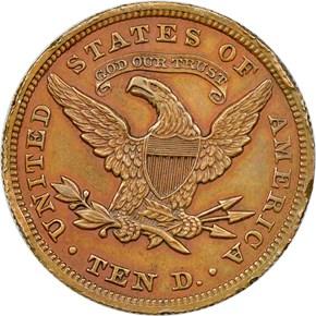 1862 J-297 $10 PF reverse