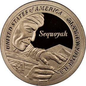 2017 S SACAGAWEA SEQUOYAH $1 PF reverse
