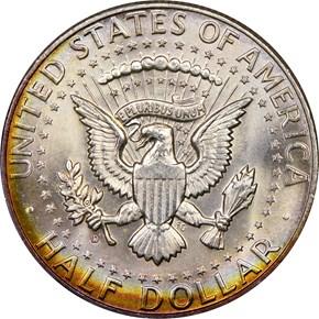 1964 D 50C MS reverse