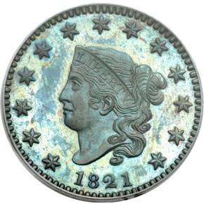 1821 1C PF obverse