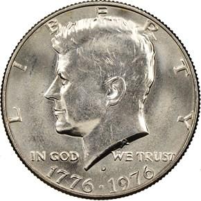 1776-1976 D 50C MS obverse