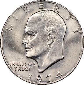 1974 $1 MS obverse