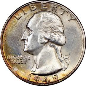 1949 25C MS obverse