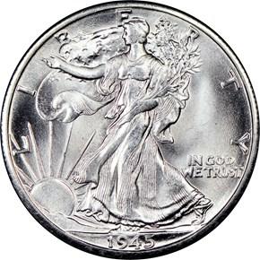 1945 D 50C MS obverse