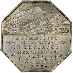 1900 LESHER HK-789;Z-3 A.B. BUMSTEAD SC$1 MS obverse