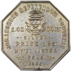 1900 LESHER HK-789;Z-3 A.B. BUMSTEAD SC$1 MS reverse