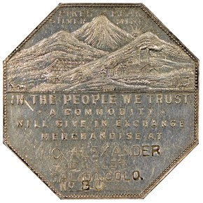 1901 LESHER HK-797;Z11 W.C. ALEXANDER SC$1 MS obverse