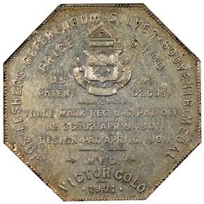 1901 LESHER HK-797;Z11 W.C. ALEXANDER SC$1 MS reverse