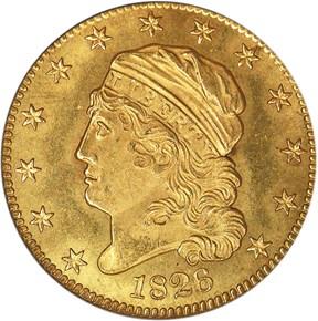 1826 $5 MS obverse