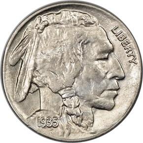 1935 5C MS obverse
