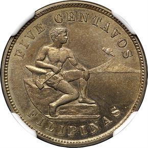 1906 USA-PHIL 5C PF obverse