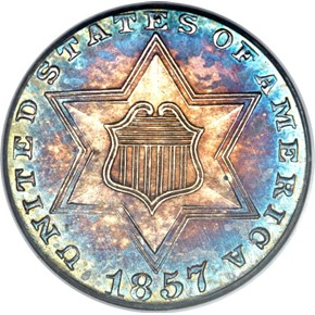 1857 3CS PF obverse