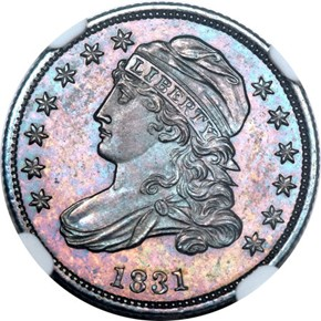1831 10C PF obverse
